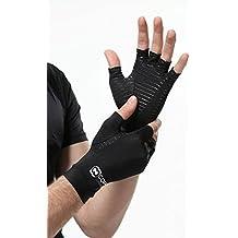 Copper Compression - Los guantes #1 de recuperación en cobre para artritis, ¡mayor contenido de cobre GARANTIZADO! Los mejores guantes con infusión de cobre para túnel carpiano, escribir en el ordenador y soporte diario para las manos. (1 PAR Tamaño XL)