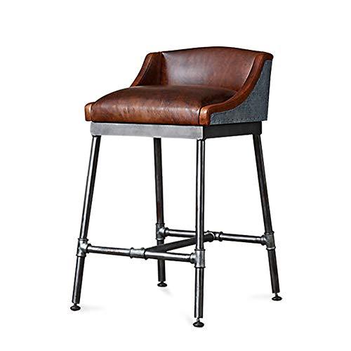 Bar Höhe Faux Holz (barstool Barhocker, Küchenstuhl/Frühstück Bar Hocker/Barhocker, Industrial Style/Crossbar Pedal und Eisen Stuhlbeine, für Theke/Cafe / Küche/Frühstück / Pub, schwarz)