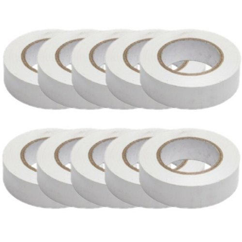 pack-of-10-pvc-insulation-tapes-electrical-19mmx20m-white
