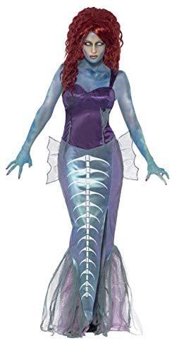 Smiffys, Damen Zombie-Nixe Kostüm, Top und Rock mit Fischschwanz, Größe: S, - Top 100 Fancy Dress Kostüm