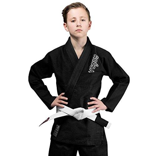Venum contender, kimono bjj unisex bambini, nero, c3