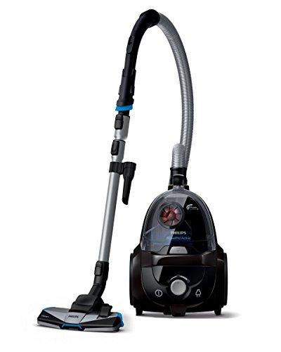 Philips beutelloser Staubsauger PowerPro Active (750 W, 1,7 L Staubvolumen, ultra Hygiene-Filter, schwarz) FC9530/09