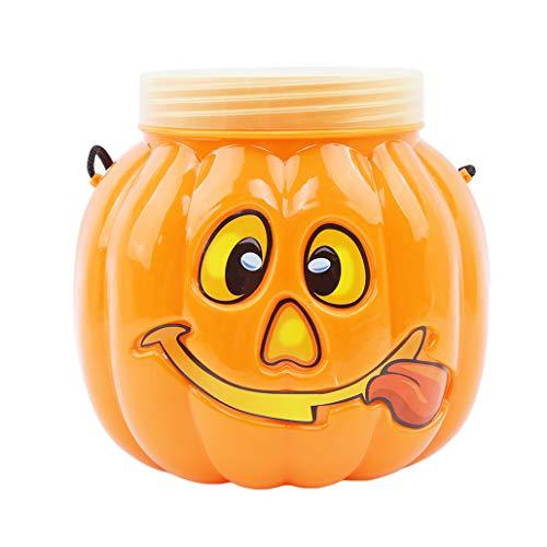 (NYAOLE Kürbis Candy Jar Halloween Süßes oder Saures Kürbisförmige Süßigkeiten Container Können mit Abdeckung für Kinder Party Geschenk)