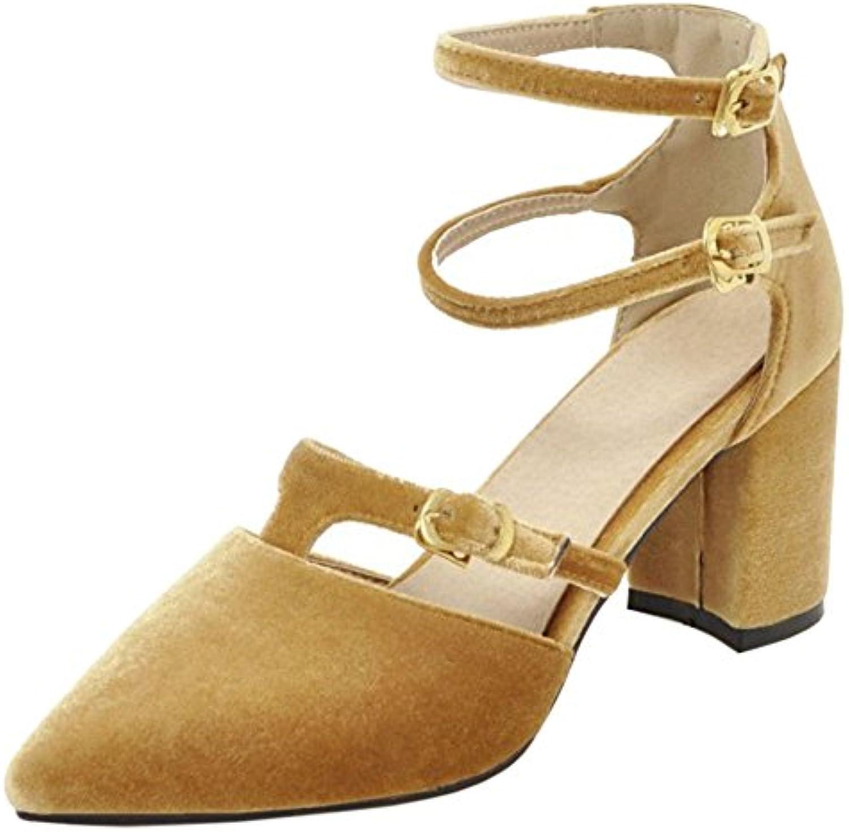 COOLCEPT Damen Mode Blockabsatz Fruhling Sommer Schuhe
