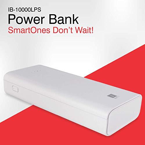 iBall 10000mAh Li-Polymer Slim Design Smart Charge Powerbank - LPS 10000 (White) Image 2
