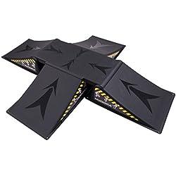 HUDORA 11118 Negro 4pieza(s) rampa de monopatín - rampas de monopatín (80 kg, Negro, Inline skates)