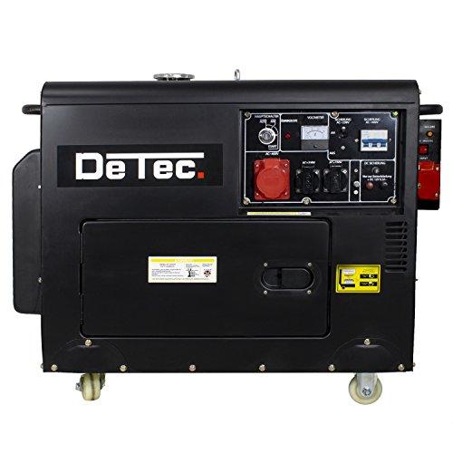 Stromaggregat 3-Phasen Diesel Stromerzeuger 230V + 400V 5 KW Generator mit E-Start und ATS