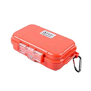 AZX Mini Waterproof Dry Box Sturdy Outdoor Kayak Storage Case For Your Phone Keys Cards (Red)