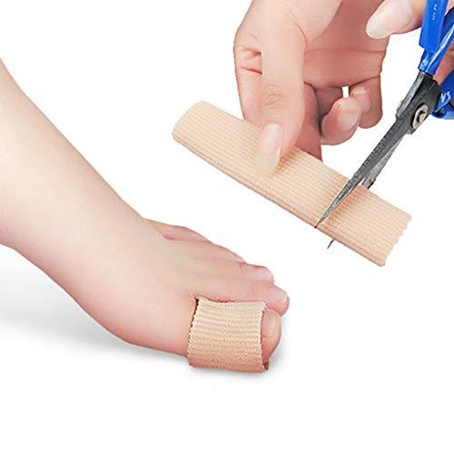 Egurs 1 stücke Gel Protector Toe Separators Silikon Rohr Fußpflege Werkzeuge Korrektor und Relief mit Toe Distanzscheiben können geschnitten Werden -