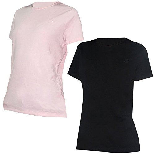 pack-of-2-liz-claiborne-womens-crew-neck-short-sleeve-t-shirt-xl-pink-black