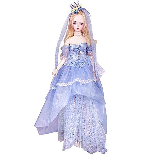 MEMIND Bjd Puppe Cinderella Märchen Mädchen Simulation Spielzeug Puppe Anime Stil Mode Geburtstag Gemeinsame Puppe Kind Spielkamerad Mädchen Spielzeug Puppe (Halloween Barbie Makeup Doll)