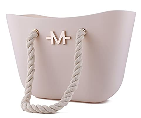 Marino Avenue Marino Silicone Bag With Rope Handle - Ivory