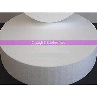 Lealoo – Disco XL de 10 cm de Grosor, 70 cm de diámetro, Base de poliestireno Pro de Alta Densidad, 28 kg/m3