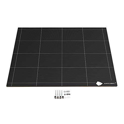 ANYCUBIC Ultrabase per stampanti 3D con piatto riscaldato 12V/24V Superficie di stampa 430 * 410mm compatibile con Chiron