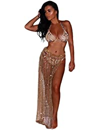 2d7d3803f1 Amazon.co.uk  Gold - Cover-Ups   Sarongs   Swimwear  Clothing