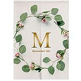 Nordic Modern Minimalist Partition Door Curtain, Cotton Linen Cloth Art Wreath Half Curtain Küche Schlafzimmer Bad Zimmer Wohnbereich Wohnbereich Dekorationsvorhang,85x150cm