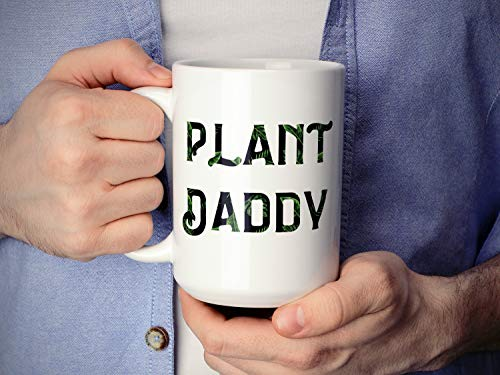 FloradeSweet Plant Daddy Mug Faux Pflanze Lady Vegan Kaffeetasse Pflanze Lady Mug Fathers Day Geschenk Monster Blatt Becher Palm Leaf Becher Geschenke f¨¹r ihn