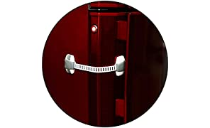 Safe-O-Kid Adjustable Large Size Multi-Purpose Child Safety Lock (Gray)