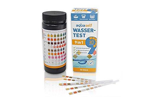 9-in-1 Wassertest – 50 Stück Trinkwasser Teststreifen zur Überprüfung der Wasserqualität (Nicht-eisen-stoff)