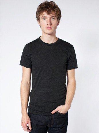 2xl Short Sleeve Shirt (Unisex Triblend Short-Sleeve Track T-Shirt TRI BLACK 2XL)