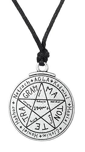Collar con Colgante de pentaculo con Sello de Salomon de Dawpara Pagan Love Tetragrammaton