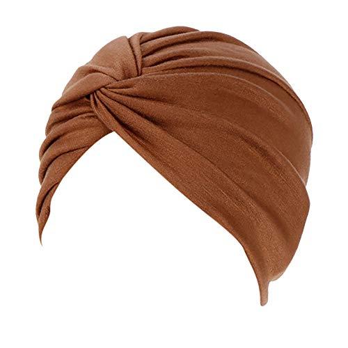 URIBAKY W-Stil Pilssiert Turban,Kopfbedeckung,für Frauen Haarausfall, Krebs, Chemo