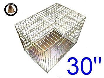 Artikelbild: Ellie-Bo Käfig für Welpen/Hunde, Metallplatte mit Kauschutz, GrößeM, 76,2cm, goldfarben