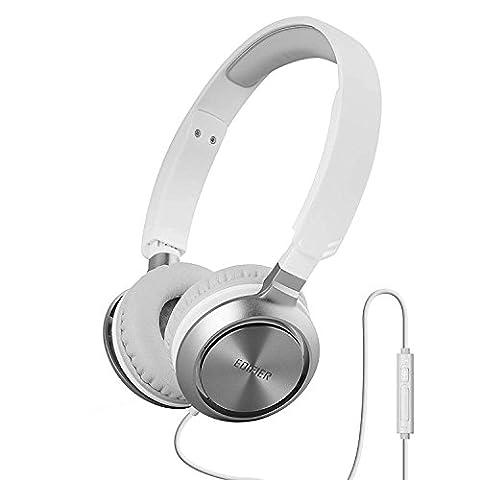 Edifier M710 On-Ear Kopfhörer Mit Mikro und Laustärkeregler Weiß