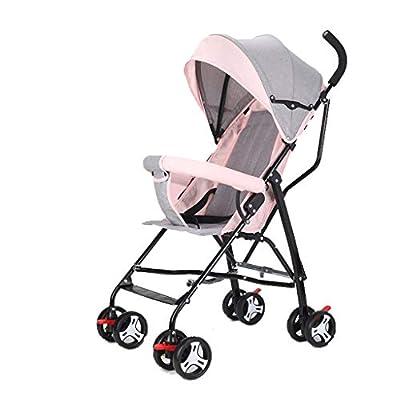 Mjd Cochecitos Cochecito El Cochecito se Puede sentar reclinado Ultra Ligero portátil Paraguas de bebé Plegable niños Simples Mini Carro Carrito De Bebé