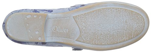 s.Oliver 42406, Ballerines fermées fille Bleu - Blau (DENIM COMB 803)