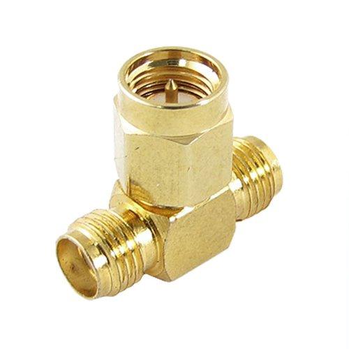 SODIAL(R) -Adattatore con splitter, SMA (maschio)-2x SMA (femmina), T RF, triplo connettore
