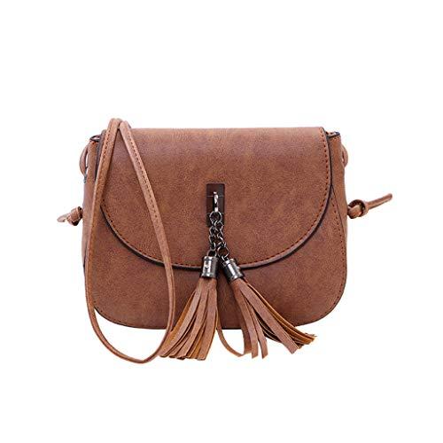 VIccoo Trend einfache Frauen Messenger Bags koreanische Umhängetasche Mode Quaste Kupplungen - Kaffee