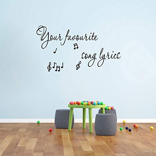 72 CM * 39 CM Erstellen Sie Ihre Eigenen Song Lyrics Wandkunst Aufkleber Decor PVC Wohnzimmer Aufkleber
