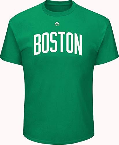 VF Majestic Herren T-Shirt Boston Celtics Big Athletic Team Wordmark, Herren, grün, Small - Team Athletic-t-shirt