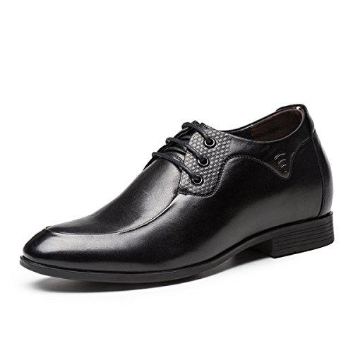 6cm Hombres Grrong Los Dan Negocios Décontracté Zapatos Aumentaron Negro 7w0RqH