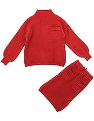 La Vogue Set Suéter Niña Camiseta Vestido Invierno Conjuntos