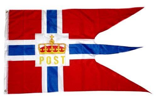 Fahne/Flagge Norwegen Post Hurtigruten 90 x 150 cm