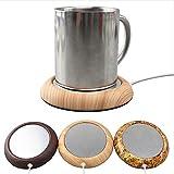 Ocamo Almohadilla térmica portátil de la Taza del USB, cojín del Aislamiento de la Bebida del café del té Textura De Madera Clara