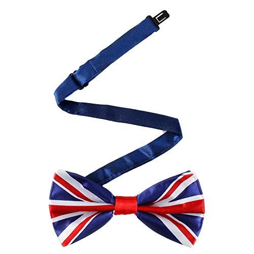 Gaodaweian Organizer für Herrenschmuckkästchen Herren Pre Gebunden Einstellbare UK Flag Bow Ties Neuheit Krawatte Für Hochzeitsfeier Herrenschmuck Bernstein
