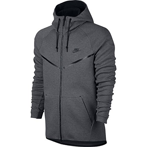 Nike M NSW TCH FLC WR HOODIE FZ - Sweatshirt Grau - L - Herren