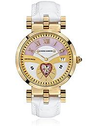 Chrono Diamond 82111_weiß-38 mm - Reloj , correa de cuero color blanco