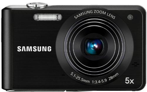 Samsung PL80 Digitalkamera  (12 Megapixel, 5-fach opt. Zoom, 6,85 cm (2,7 Zoll) TFT LCD, Duale Bildstabilisierung) schwarz