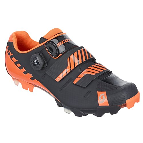 Scott haute vélo vTT-noir/orange - 2016 chaussures 39 Noir - black/neon orange gloss
