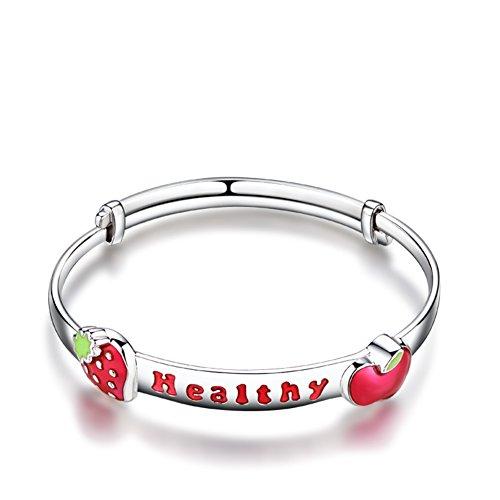 Bébé en bonne santé argent bijoux/925 silver bracelet bracelets pour enfants/ cadeaux d'anniversaire A