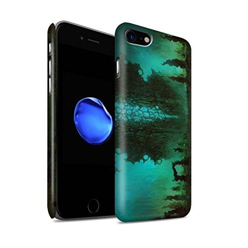 Offiziell Chris Cold Hülle / Matte Snap-On Case für Apple iPhone 7 / Rest Muster / Fremden Welt Kosmos Kollektion Alien Landschaft