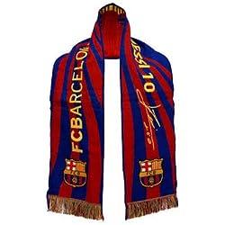 Bufanda Oficial FC BARCELONA - Messi Cara + Firma - 120x20cm