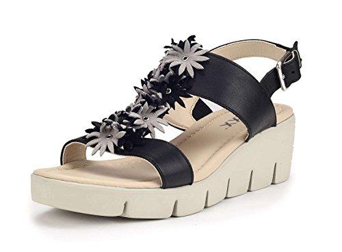 The flexx emma sandalo zeppa donna nero 39 eu