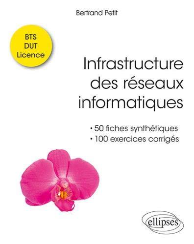 Infrastructure des réseaux informatiques - 50 fiches synthétiques et 100 exercices corrigés - BTS DUT Licence par Bertrand Petit