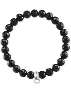 Thomas Sabo Damen-Armband 925 Silber Hämatit schwarz Ovalschliff 17.5 cm - X0220-840-11-L17,5