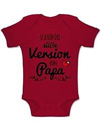 Shirtracer Sprüche Baby - Ich Bin die süße Version von Papa - Baby Body Kurzarm Jungen Mädchen